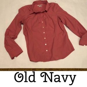 Old Navy Pink Long Sleeve Top sz: L (12-14)